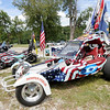 Patriotic fun rides grace the grounds at the Armed Forces Music Festival on Saturday at Morse Park in Neosho. Proceeds from the event will benefit area veteran's organizations.<br /> Globe | Laurie Sisk