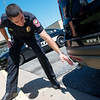 Globe/Roger Nomer<br /> Joplin Police Captain Trevor Duncan talks about alterations made to the department's Ford Explorers during an interview on Wednesday.