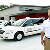 AAA Taxi co-owner Brad Baird talks about the unlevel playing field created by allowing Uber to operate in Missouri. Baird, who employs 44 drivers, said requirements required by law for him to operate are not imposed on Uber drivers.<br /> Globe | Laurie Sisk