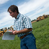 Globe/Roger Nomer<br /> John Kleiboeker takes notes during a meeting about expanding his farm near Pierce City during a meeting on Thursday.