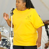Dee Rucker, of the Spiritual Night-N-Gales, belts out a long note during sound check on Friday night at the annual Emancipation Park Days at Ewert Park.<br /> Globe   Laurie Sisk