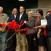 Globe/Roger Nomer<br /> Tonya Sprenkle, vice president of the Joplin Area Chamber of Commerce, cuts the ribbon on Friday at the Joplin Area Chamber of Commerce Advanced training and Technology Center.