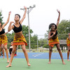 Members of the St. Louis-based dance troupe Afriky Lolo entertain the crowd on Saturday during the annual Emancipation Park Days at Ewert Park. The traditional African dance company features youth ages three to 18 and also includes an adult troupe.<br /> Globe   Laurie Sisk
