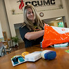 Globe/Roger Nomer<br /> Stephanie Trenary packs a relief kit for Hurricane Harvey victims on Thursday at Christ Community United Methodist Church.