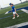 Globe/Roger Nomer<br /> Quinn Housh, 15 months, granddaughter to David Haffner, explores the field following Monday's ribbon cutting at the stadium.