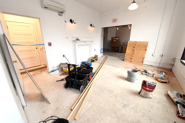 A study area inside the Commerce Building sits nearly complete during a tour on Tuesday in downtown Pittsburg.<br /> Globe | Laurie Sisk