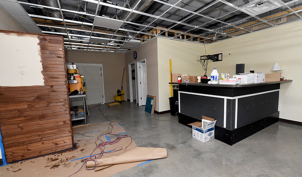 Construction in the dining room continues Wednsday at Cat Johnson's Taste of the South.<br /> Globe | Laurie Sisk