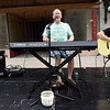 "From the left: Scott Eastman, Todd East and Danny Bell represent Club 609 as they entertain the crowd with their cover of ""Tequila Sunrise""  at Third Thursday in Downtown Joplin on Thursday night.<br /> Globe 