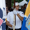 Amy Donaldson participates in honor guard of VFW Post 5293 of Joplin during Friday's ribbon cutting ceremony for the Joplin Community Based Outpatient Clinic.<br /> Globe | Roger Nomer