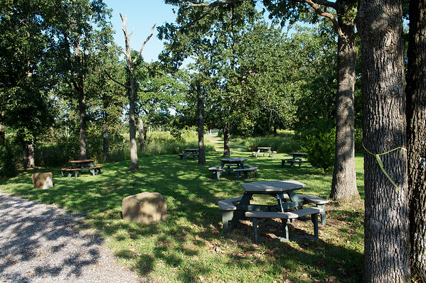 A new picnic area has been cleared at the Shoal Creek Conservation Education Center.<br /> Globe | Roger Nomer