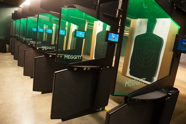 Missouri Southern unveils their new firing range at the Mills Anderson Justice Center on Thursday.<br /> Globe | Roger Nomer