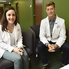 From the left: Second-year KCU students Annie Altschul, of Charlotte, N.C., and Charles Coker, of Edmond, Okla., are two of the KCU students working at the Community Clinic of Southwest Missouri.<br /> Globe | Laurie Sisk