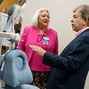 Vicky Mieseler, chief administrative officer for Ozark Center, talks with Sen. Roy Blunt about a new, non-medication, treatment for depression available at Ozark Center Hope Spring during a tour on Friday.<br /> Globe | Roger Nomer