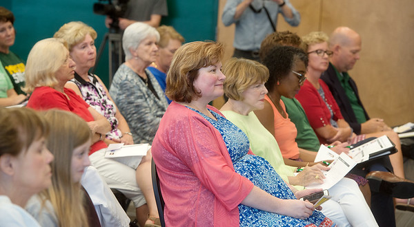 Audience members listen to candidate statements during Thursday's forum at Missouri Southern.<br /> Globe | Roger Nomer