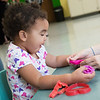 Ava Hill, 2, plays at the Cerebral Palsy of Tri-County Center in Webb City on Tuesday.<br /> Globe | Roger Nomer