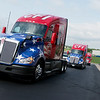 CFI trucks dedicated to veterans and female drivers are introduced on Tuesday at CFI.<br /> Globe | Roger Nomer