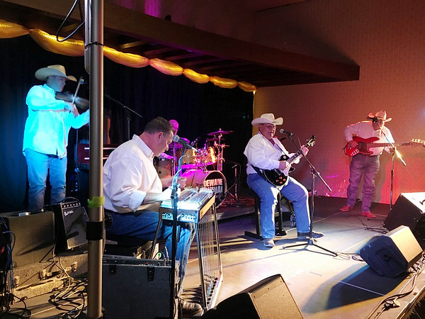 Dewayne Bowman plays with the Swingin' West Band at Bordertown Casino in Wyandotte on Aug. 9.
