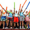 """From the left: Joplin High School students Kaden Parker, Kirk Chandler, Jake Taylor, Tommy Hafer, Will Rader and Colton Landis spell out """"J-O-P-L-I-N"""" as they cheer on the Eagles during the JHS season opener against Willard on Friday night at Junge Stadium.<br /> Globe   Laurie Sisk"""