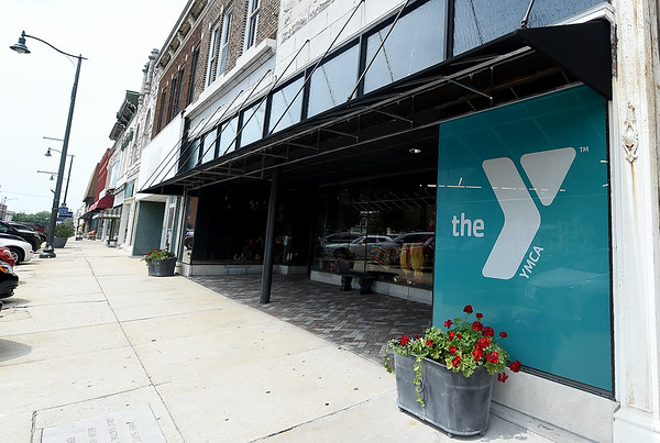 The new Fair Acres Family YMCA annex sits on the square in Carthage on Wednesday.<br /> Globe | Laurie Sisk