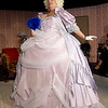"""Susie Lundy rehearses her role as Monette Antoinette for the upcoming Stone's Throw Dinner Theatre production of """"Always a Bridesmaid,"""" which opens August 16 at the Carthage theatre.<br /> Globe   Laurie SIsk"""
