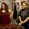 From the left: Stacey Struble and her daughter Anna Struble talk about the drum corps experience and the role that music plays in their family on Thursday at their Oronogo home. Anna, a senior at Webb City High School, just completed her second year touring with the Southwind Drum and Bugle Corps of Mobile, Ala.<br /> Globe | Laurie Sisk