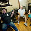 "(from left) Johnny Rose, Sammie Ketcher and Bob ""Hop"" Poole talk about their experience on stage at Cornstalk during an interview on Monday.<br /> Globe 
