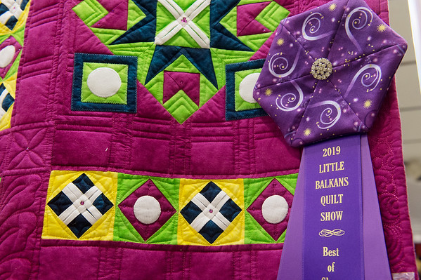 This quilt by Shari Novak Johnson and Sandra Morgan Cockrum won Best of Show at the Little Balkans Days Quilt Show on Friday in Pittsburg.<br /> Globe | Roger Nomer
