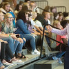 Joplin High Principal Steve Gilbreth talks with students on Thursday at Joplin High School.<br /> Globe | Roger Nomer