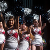 Joplin High School cheerleaders perform during Monday's back-to-school rally at Joplin High School.<br /> Globe | Roger Nomer