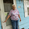 Dorothy Humphrey talks about the height of water from the 2017 flood at her house in Neosho on Friday.<br /> Globe | Roger Nomer