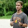 "Pittsburg State student Caleb Durbin talks about the use of ""camera traps"" to identify different species of southeast Kansas mammals on Thursday near Pittsburg. The project is part of a 50-state Smithsonian snapshot program intended to identify which specific mammals live in what areas. <br /> Globe 