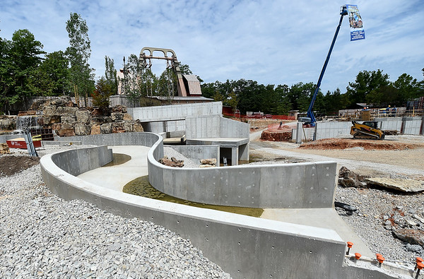 A winding half-mile float will be part of the Mystic River Falls - a new ride at Silver Dollar City that is slated to open next Summer.<br /> Globe | Laurie Sisk