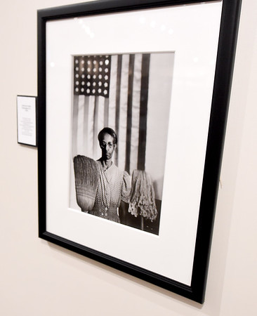 "Gordon Parks' iconic ""American Gothic"" hangs inside the Gordon Parks Museum at Fort Scott Community College. This year's 16th Annual  Gordon Parks Celebration will celebrate the 50th anniversary of Parks' first major motion picture, ""The Learning Tree.""<br /> Globe 
