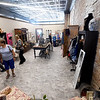 Visitors check out the new boutique inside the new Carthage YMCA on the square before ribbon cutting ceremonies on Wednesday at the YMCA.<br /> Globe | Laurie Sisk