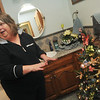 Globe/Roger Nomer<br /> Babs Tims even has Christmas trees in her bathrooms, this one being a Monet-themed tree.