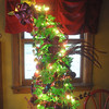 Globe/Roger Nomer<br /> Babs Tims also decorates a crooked Grinch tree for Christmas.