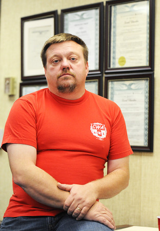 Kevin Kollmeyer, president of the Communication Workers of America Local 6313 in Joplin.<br /> Globe | T. Rob Brown