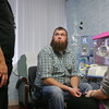 Globe/Roger Nomer<br /> Tom and Amber Turner listen to an update from a doctor at the Freeman NICU during a visit on Monday afternoon. The Turners are able to be constantly updated on their daughters' progress, something made much easier by staying close to the hospital at the Ronald McDonald House.