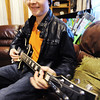 Ben Elliott, 18, a senior at Riverton (Kan.) High School, enjoys playing classic rock and blues on his electric guitar.<br /> Globe | T. Rob Brown