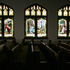 Globe/Roger Nomer<br /> Stained glass windows at First Presbyterian Church in Carthage depict scenes from Jesus's life.