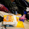 Globe/Roger Nomer<br /> Laura Samford sorts through donations on Wednesday in Pittsburg.