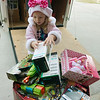 Globe/Roger Nomer<br /> Neeley Grimes, 5, helps collect donations on Monday at Fire House No. 4.