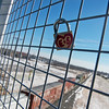 Globe/Roger Nomer<br /> A decorated lock hangs on the 20th Street overpass in Joplin.
