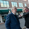 Globe/Roger Nomer<br /> Paula Callihan, director of Historic Murphysburg Preservation, gives a tour of downtown to Donovan Rypkema, principal of Place Economics, on Tuesday.
