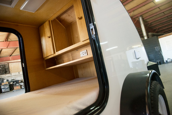 Globe/Roger Nomer<br /> The Little Mack trailer can be customized to fit a mattress and cabinets.