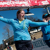 Globe/Roger Nomer<br /> Lindsey Herbert and her mother Susan, right, Racine, cross the finish line on Saturday during the Chilly 5K at the south Joplin YMCA.