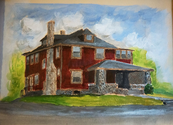 Globe/Roger Nomer<br /> This painting shows the exterior of the house before renovations.
