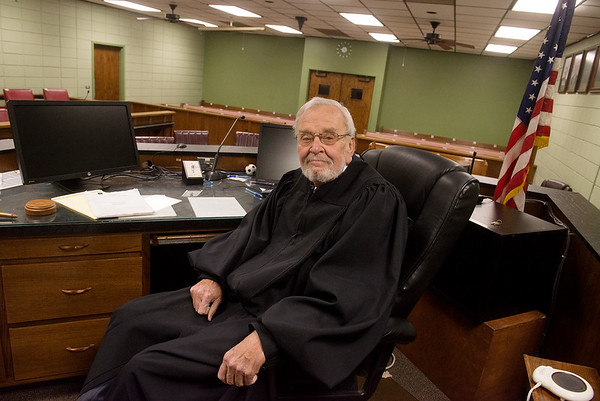 Globe/Roger Nomer<br /> Judge David Dally will soon be retiring from his courtroom in Joplin.