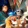 Globe/Roger Nomer<br /> Brandy Corum sorts toys collected in her toy drive at JJ's Woodfire Pizza on Friday.