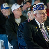Globe/Roger Nomer<br /> John Dismer, state commander for the Military Order of the Purple Heart, and other veterans attend the construction kick off of the outpatient clinic on Tuesday.